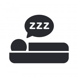 Vector illustration of single isolated sleeping icon